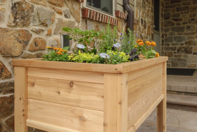 32 by 48 elevated garden planter.