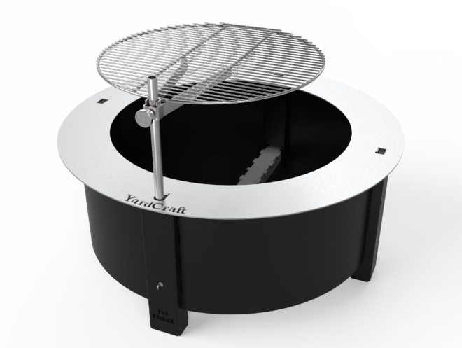 The Forge fire pit grill attachment.